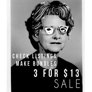 ++ 3 for $13++ sale! Make bundles!!!